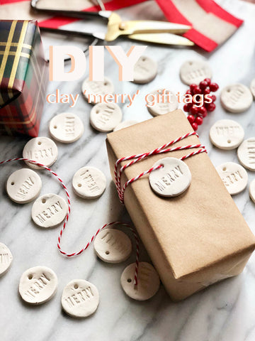 DIY Clay Merry Gift Tags