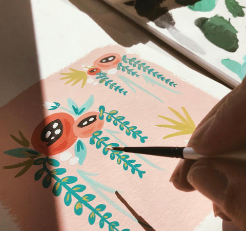 Meet The Maker: Idlewild Co. Hand painting illustrations