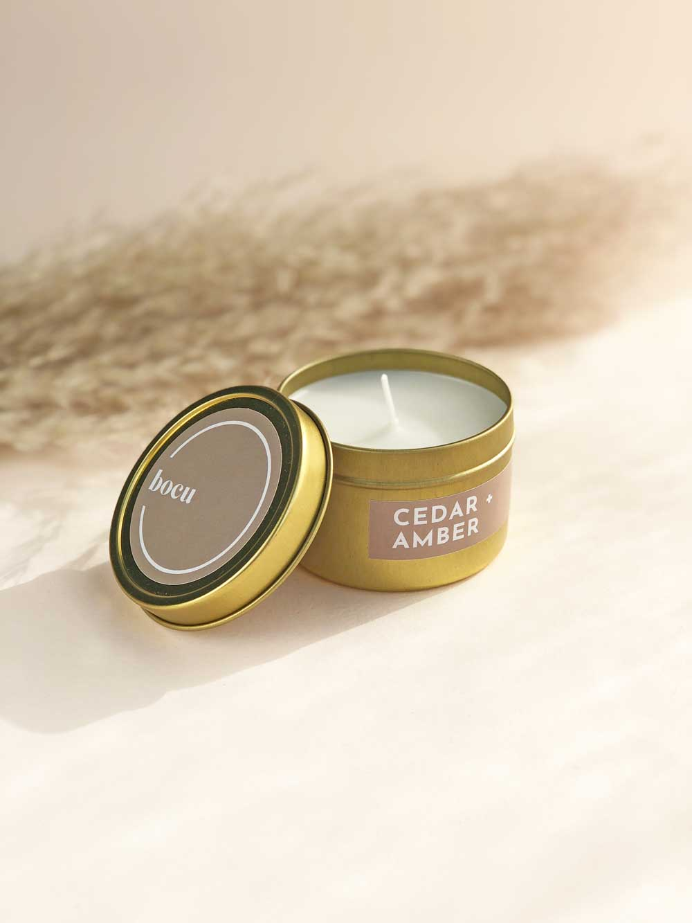 Cedar + Amber Travel Candle