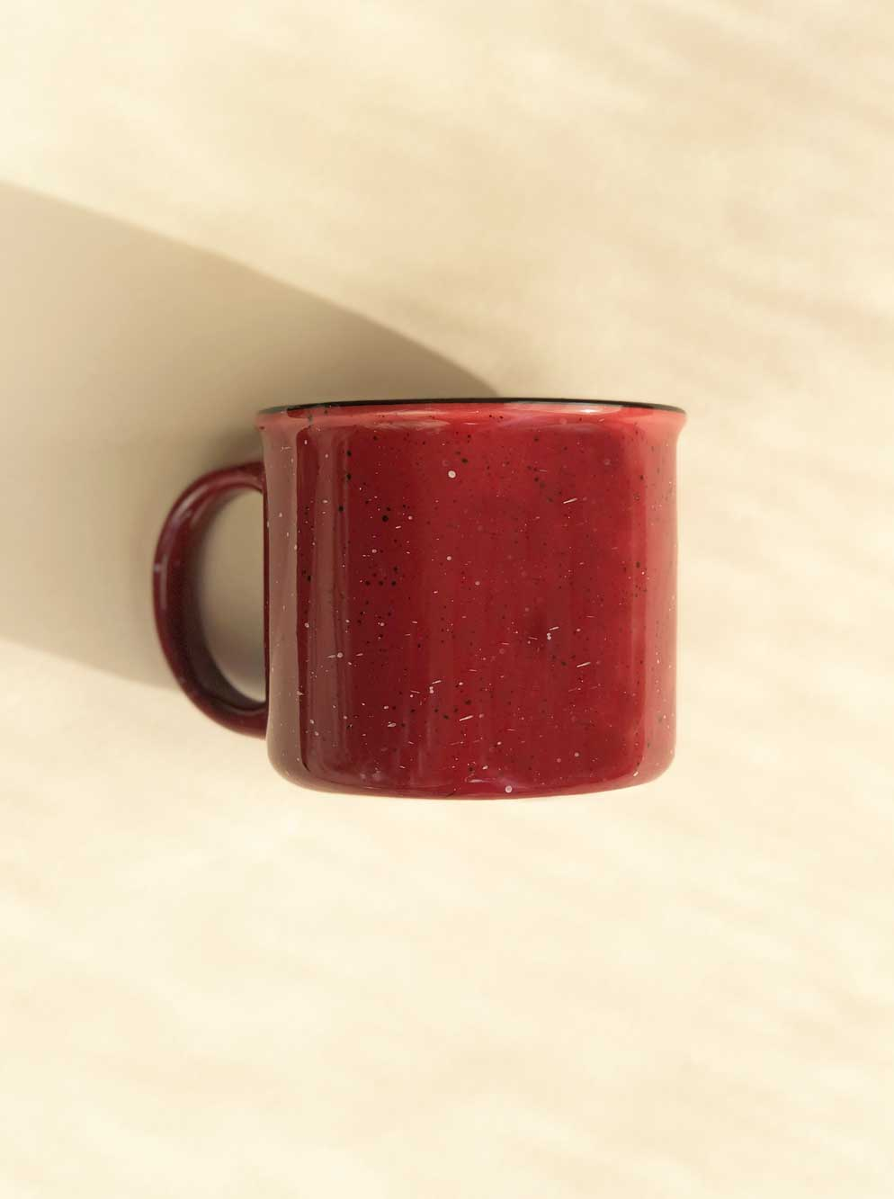 Ceramic Camp Mug - Speckled Red