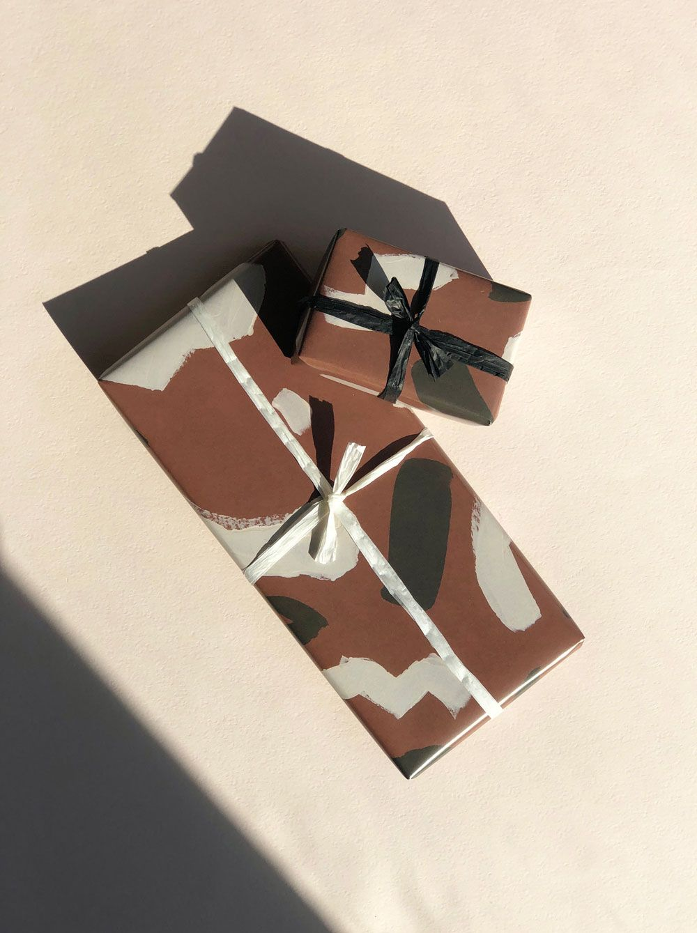 Earth Tone Painterly Gift Wrap