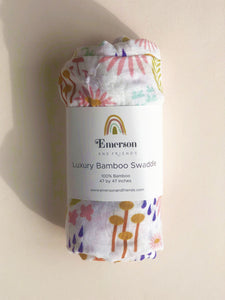 Forest Floral Bamboo Swaddle