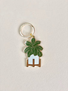 Fiddle Leaf Fig Enamel Keychain