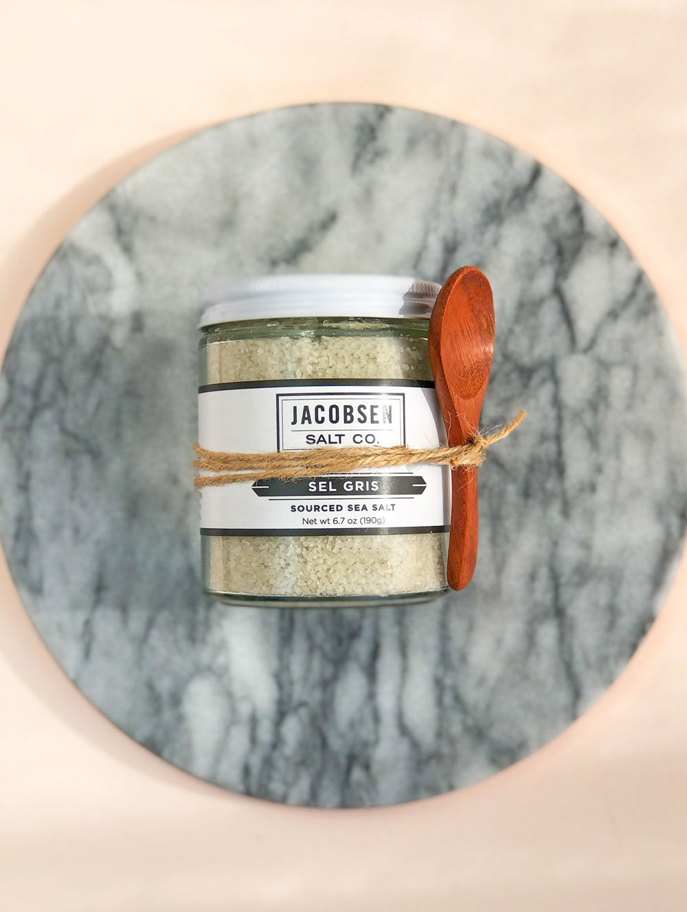 French Sel Gris Salt + Spoon