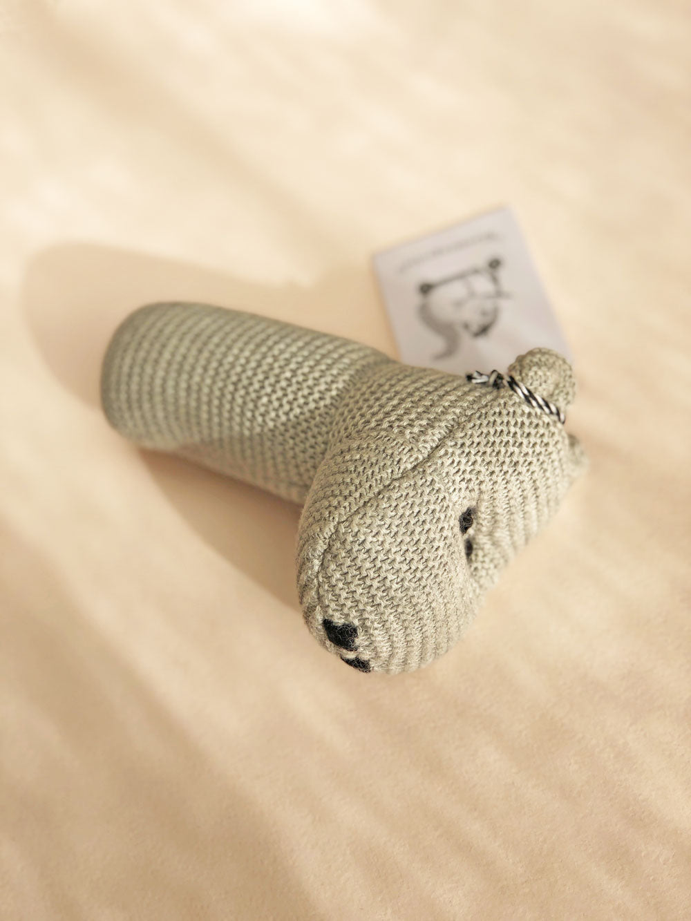 Knit Hippo Rattle