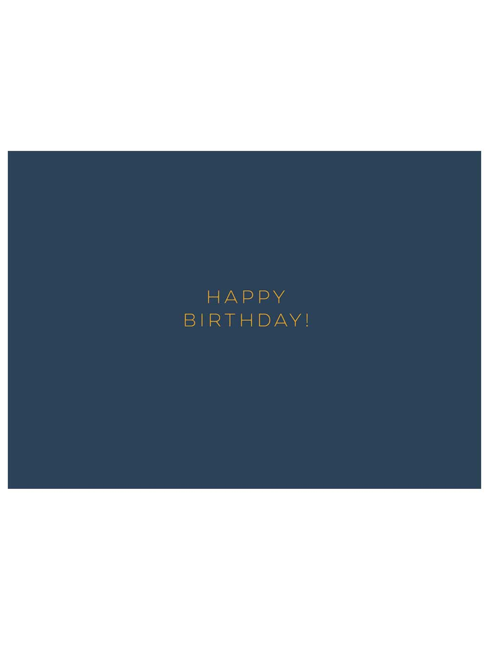 Navy Happy Birthday! Notecard
