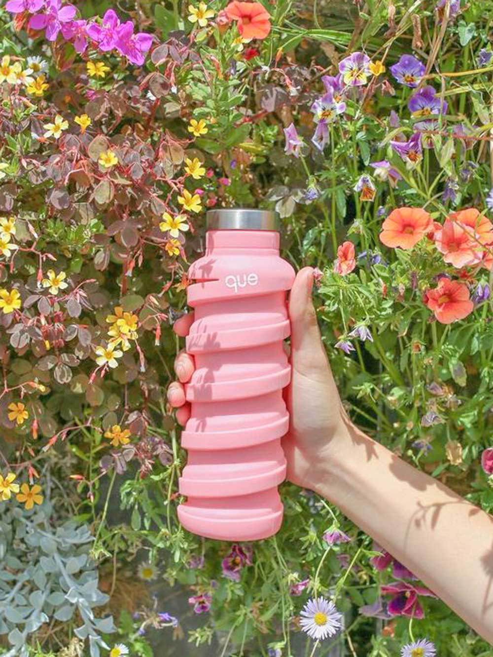 Collapsible Water Bottle  - Coral Pink