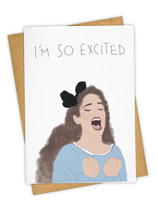 I'm So Excited Card