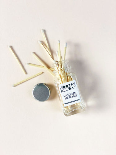 Mini Match Bottle - White