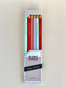 """Manual Texting"" Pencil Set of 6"