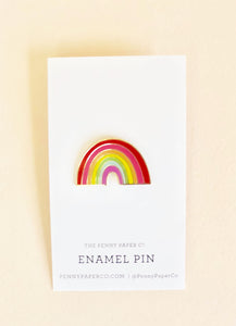 Enamel Rainbow Pin