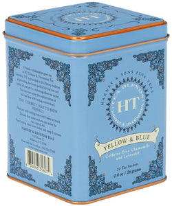 Yellow & Blue Chamomile Tea Tin