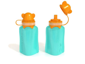 My Squeeze Reusable Pouch - Teal/Orange