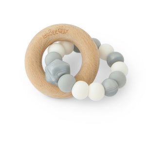 Idabee Ellipse Teether - Amia Argent