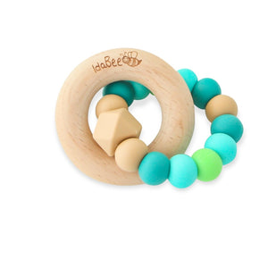 Idabee Ellipse Teether - Hazel Paradise