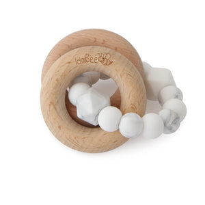 Idabee Rattle Teether - Marble White