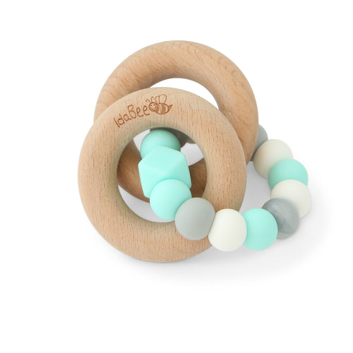 Idabee Rattle Teether - Sommer Aqua Silver