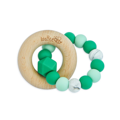 Idabee Ellipse Teether - Monstera