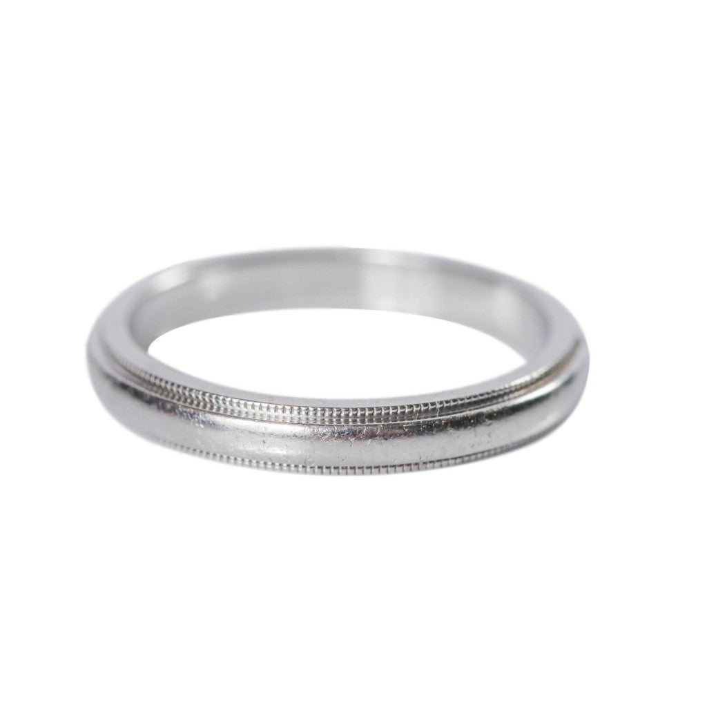 ring earth men band brilliant wedding matte white s gold platinum milgrain shasta bands top