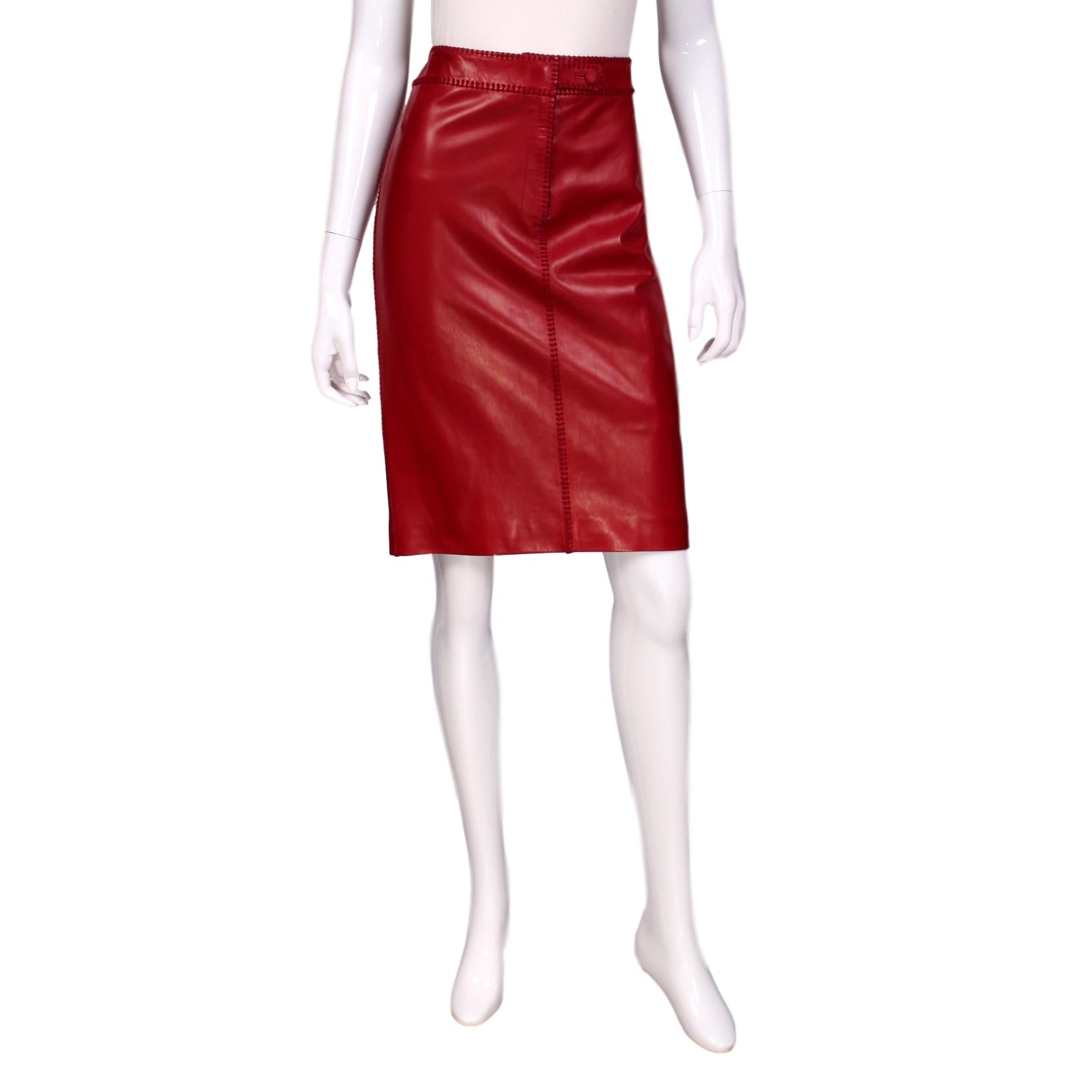 Yves Saint Laurent Knee-Length Satin Skirt