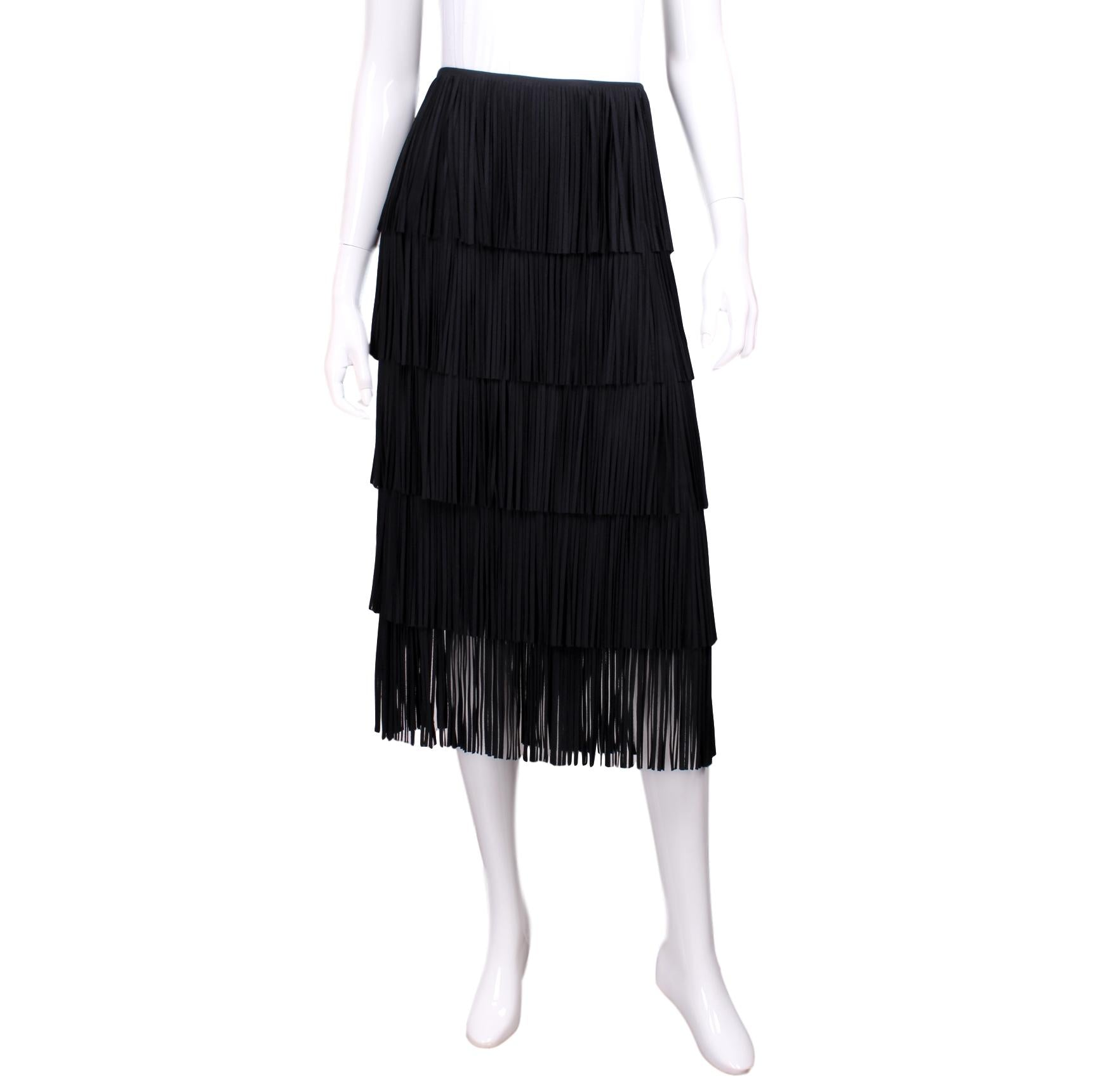 Outlet Cheap Authentic Fendi Fringed Knee-Length Skirt Purchase Cheap Sale Brand New Unisex For Sale Footlocker NX6czr