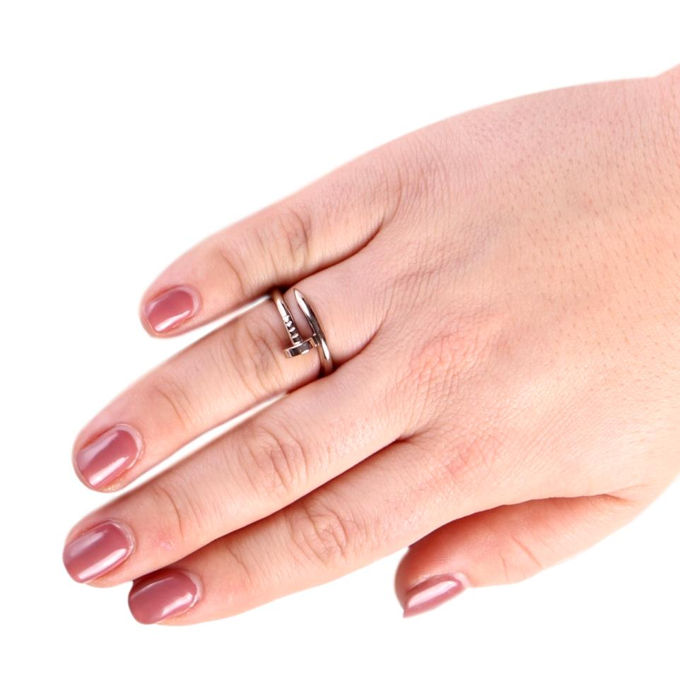 Cartier Juste Un Clou 18K White Gold Nail Ring - Size 56 – Adore the ...