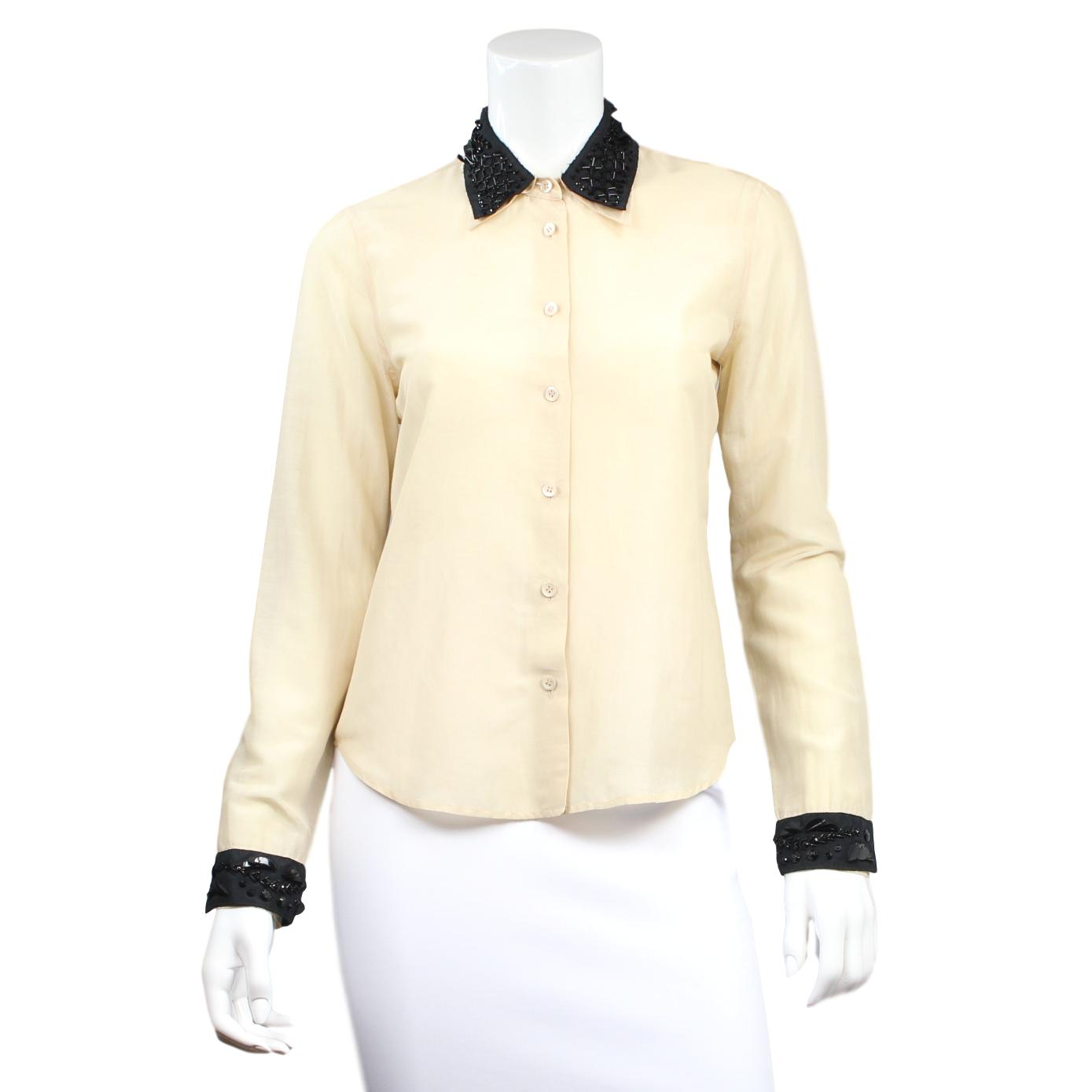 Prada Tie Front Button-Up Discount Enjoy Get Authentic Sale Online Buy Cheap How Much zXb9WW2