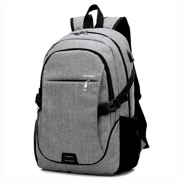 2018 Fashion Men Backpacks canvas Bags For Teenagers girls 15.6 Inch Laptop Bag  Backpack USB Large 52e13e047d