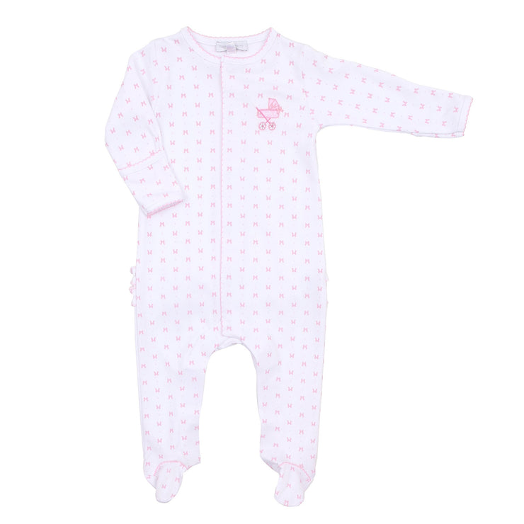 Embroidered Ruffle Footie - Darling Pram