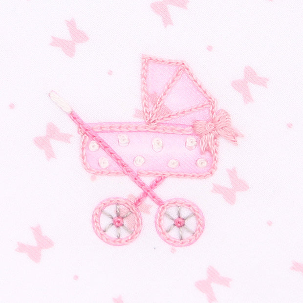 Embroidered Ruffle Hat - Darling Pram