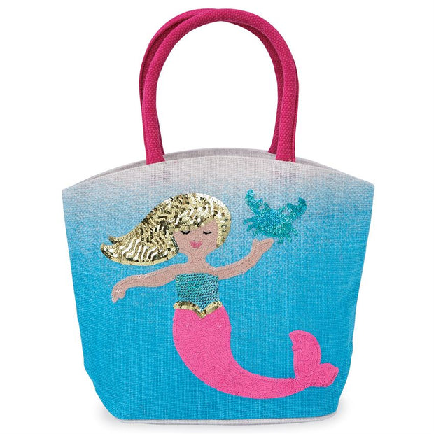 Mermaid Straw Tote