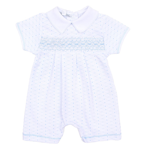 Chloe and Connor Smocked Collard Short Play-suit