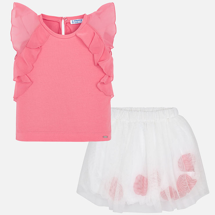 Tulle Petal Skirt Set