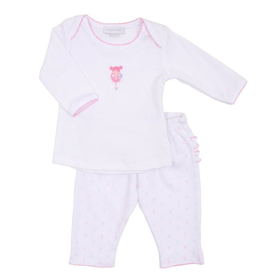 Garden Fairies Emb. Ruffle Pant Set
