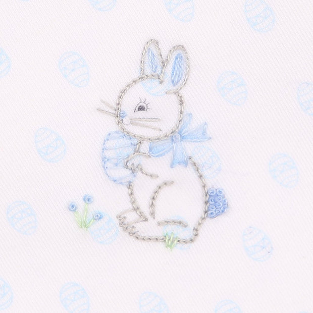 Embroidered Short Set - Bunny's Egg Hunt