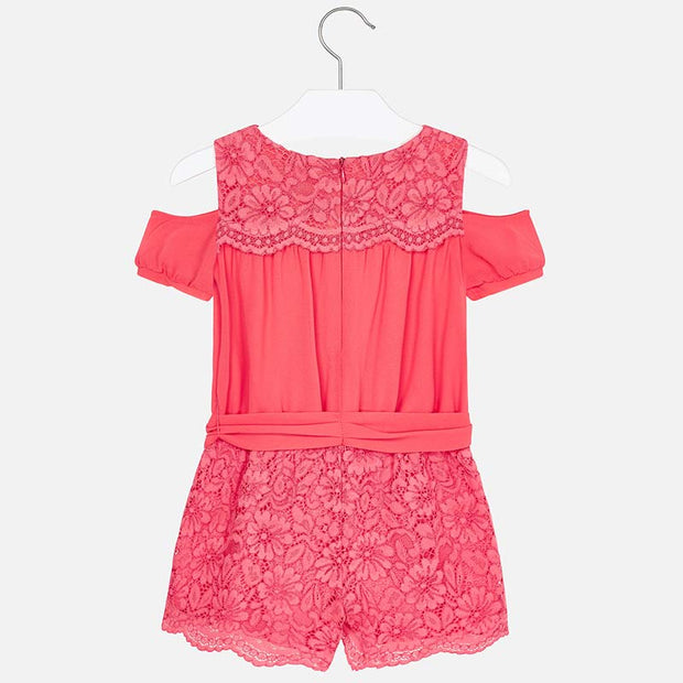 Coral Lace Playsuit