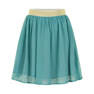 Smoke Blue Chiffon Skirt