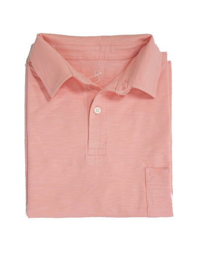 Lil' Duckling Pocket Polo - Melon