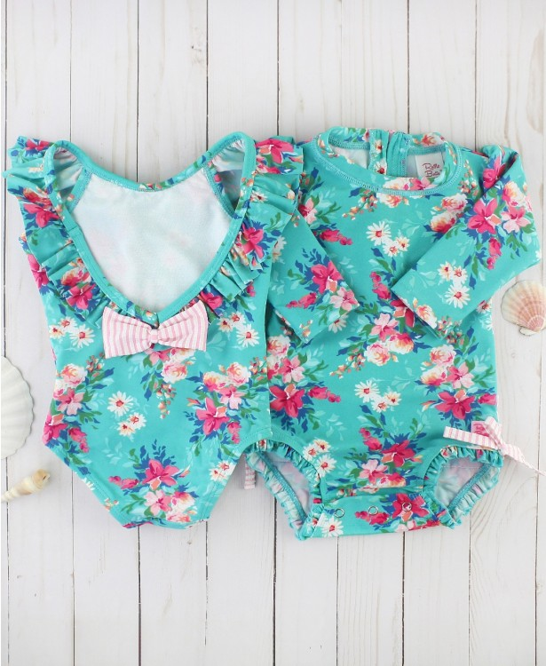 Fancy Me Floral Ruffle One Piece
