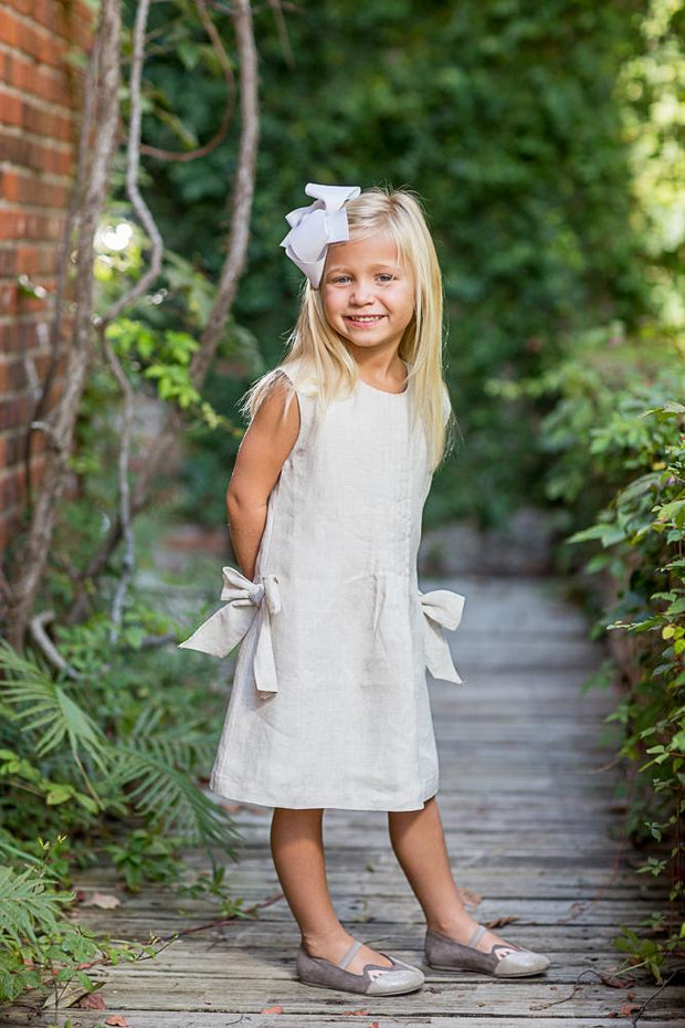 Karla Natural Linen Dress