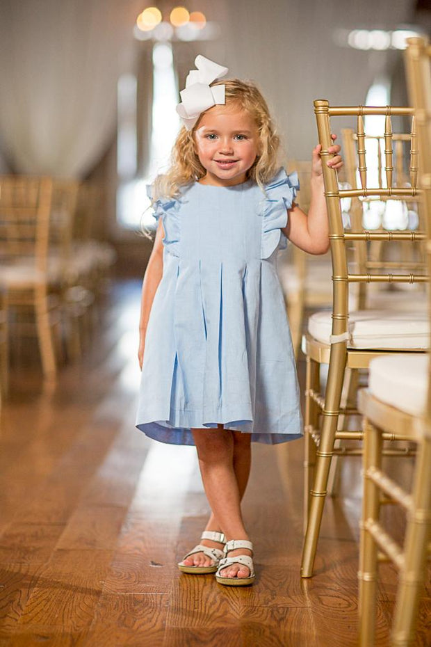 Braleigh Blue Linen Dress
