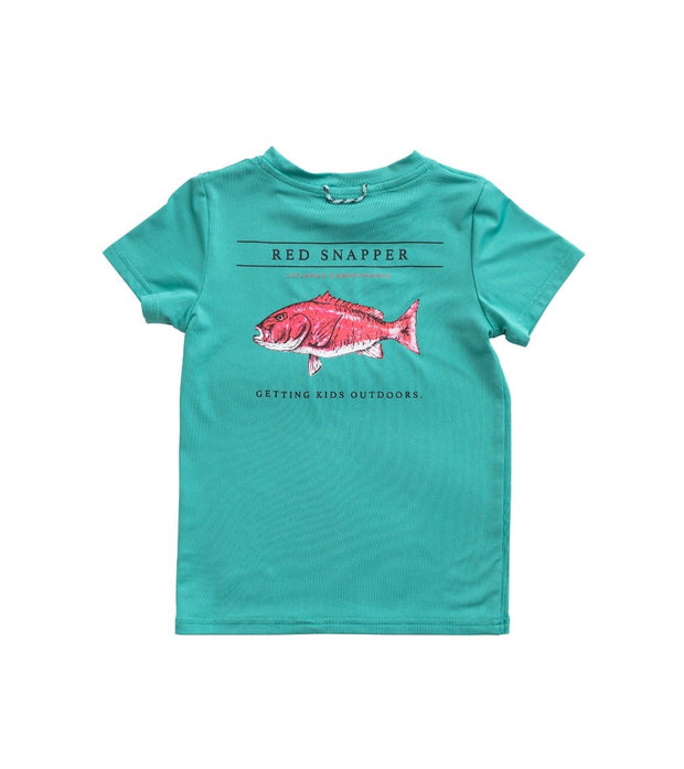 Red Snapper Performance Tee - Lagoon