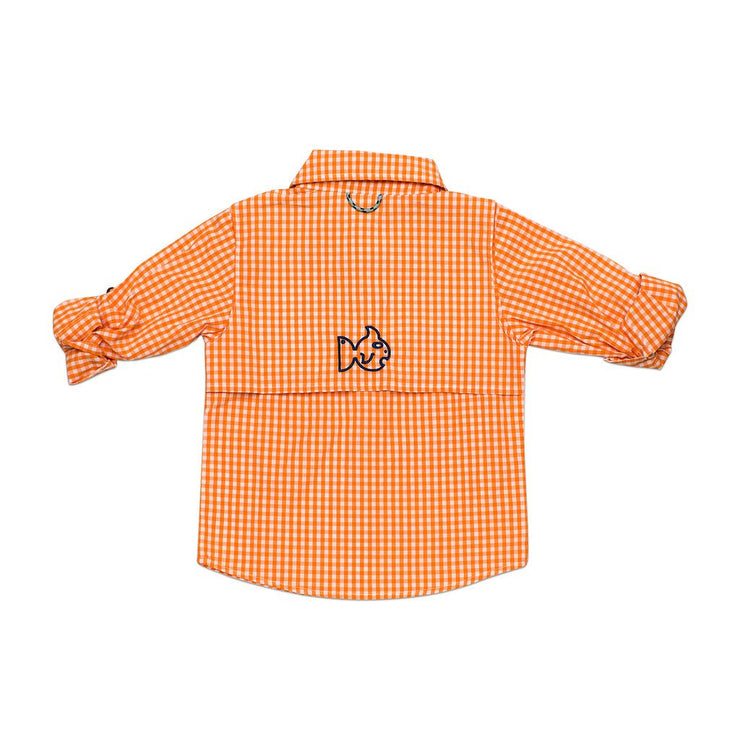 Gingham Fishing Shirt - Orange