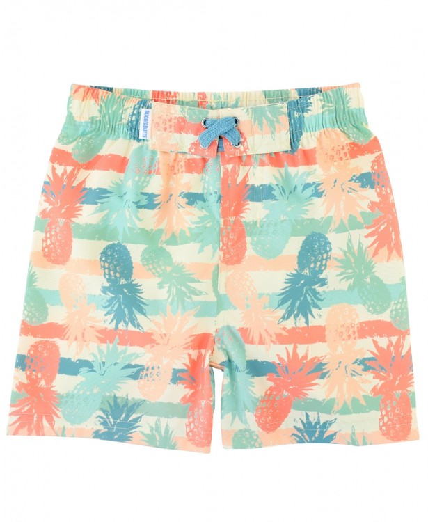Playful Pineapple Swim Trunks