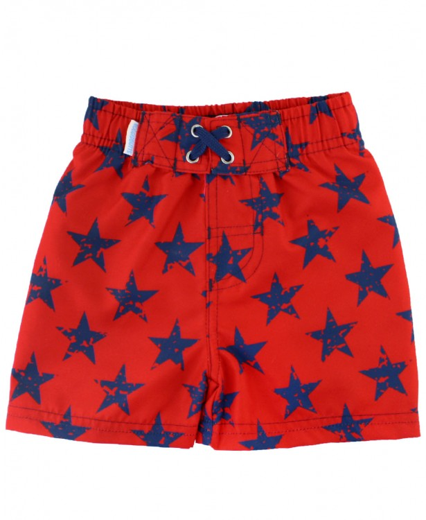Red Super Star Swim Trunks