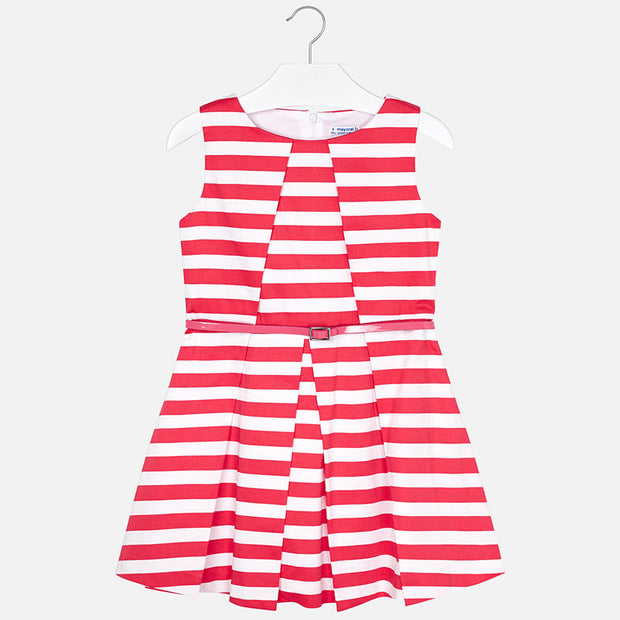 Coral Stripped Dress