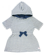 Navy Stripe Terry Cover Up