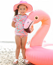 Fab Flamingo Rash Guard Bikini