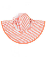 Coral Stripe Reversible Swim Hat