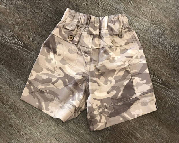 Khaki Camo Fishing Shorts